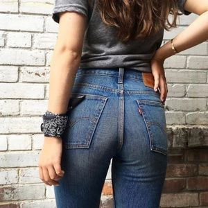 """Levi's wedgie jeans 11"""" high rise 29 white oak"""